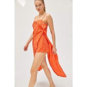 🐣 urban outfitters linen side slit romper medium